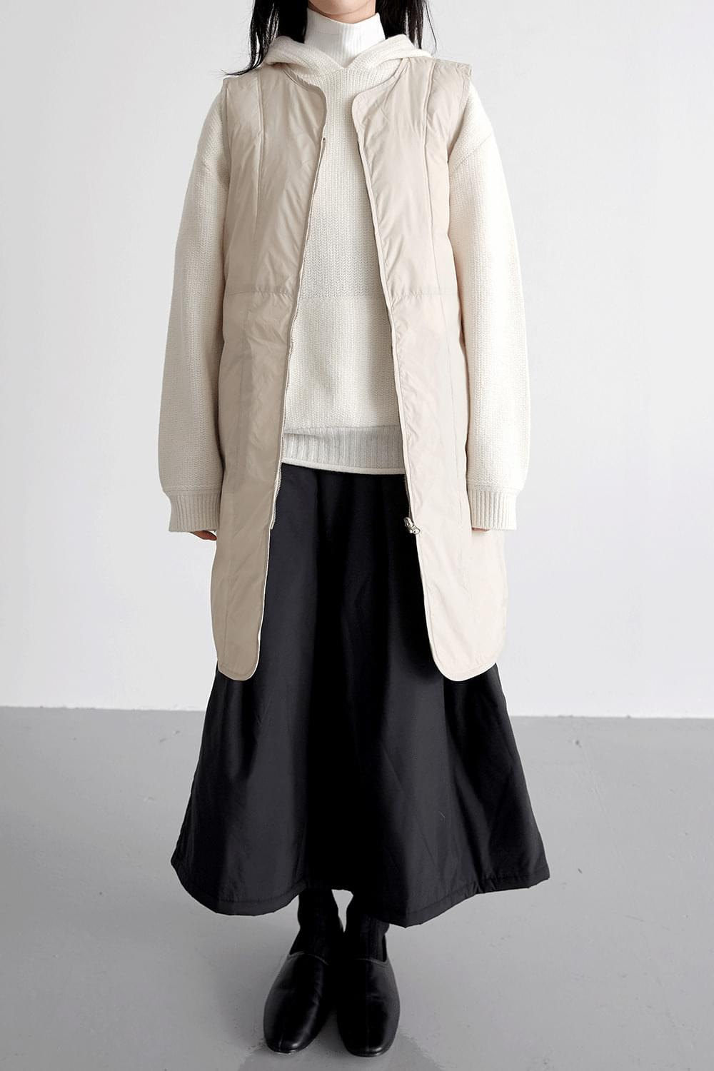 duck down field jumper (ivory)
