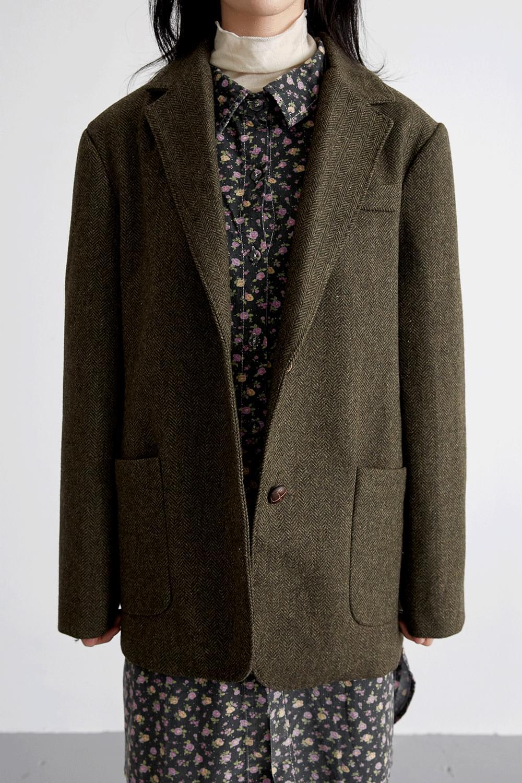 standard herringbone jacket (khaki)