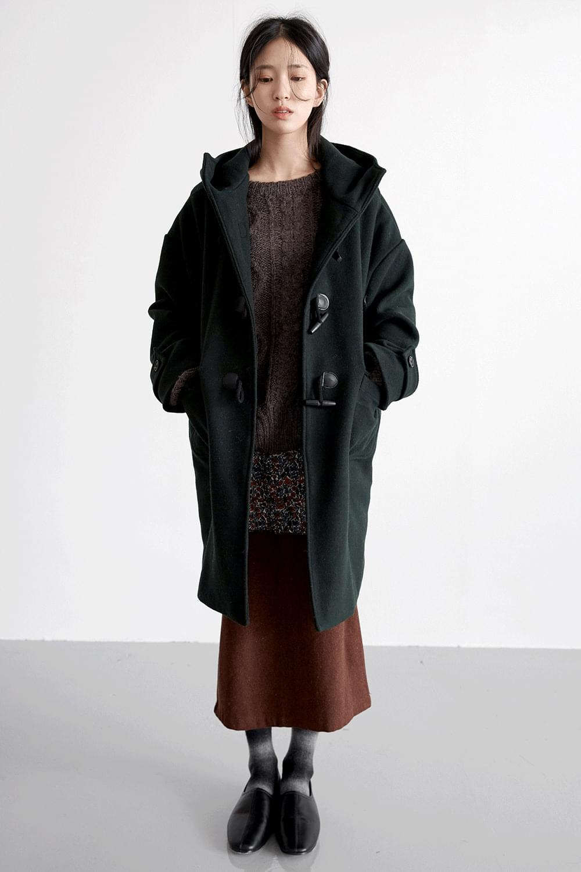 retro duffle coat (green)