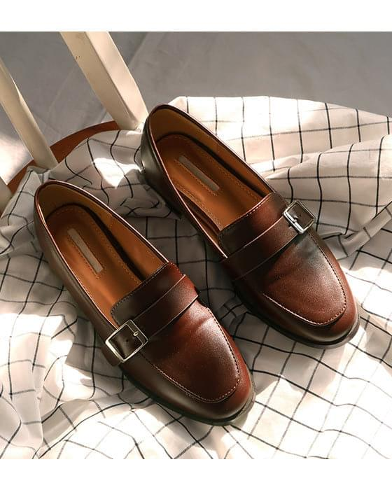 Thanks ♥ Classic Buckle Loafers Shoes-2color