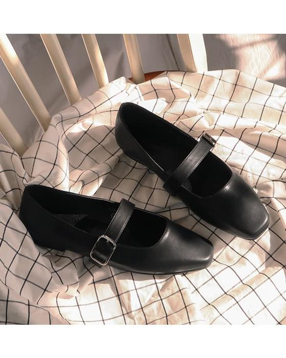 Thanks ♥ mood buckle strap loafers shoes-4color