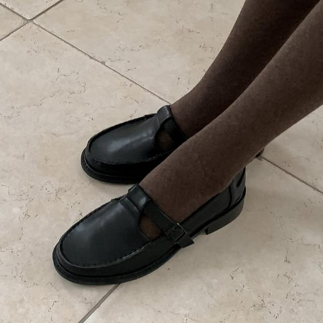 Vintage Strap Mary Jane Loafers