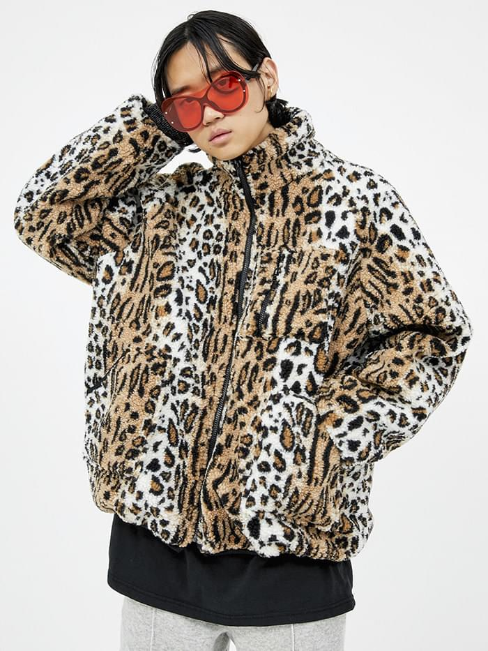 leopard dumble jumper - woman