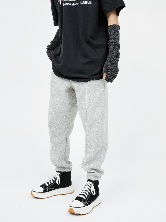 wool banding jogger pants (4 color) - men