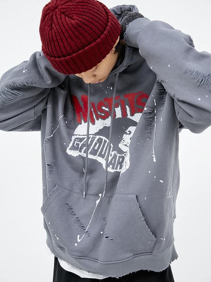 MISFITS damage hood (2 color) - men