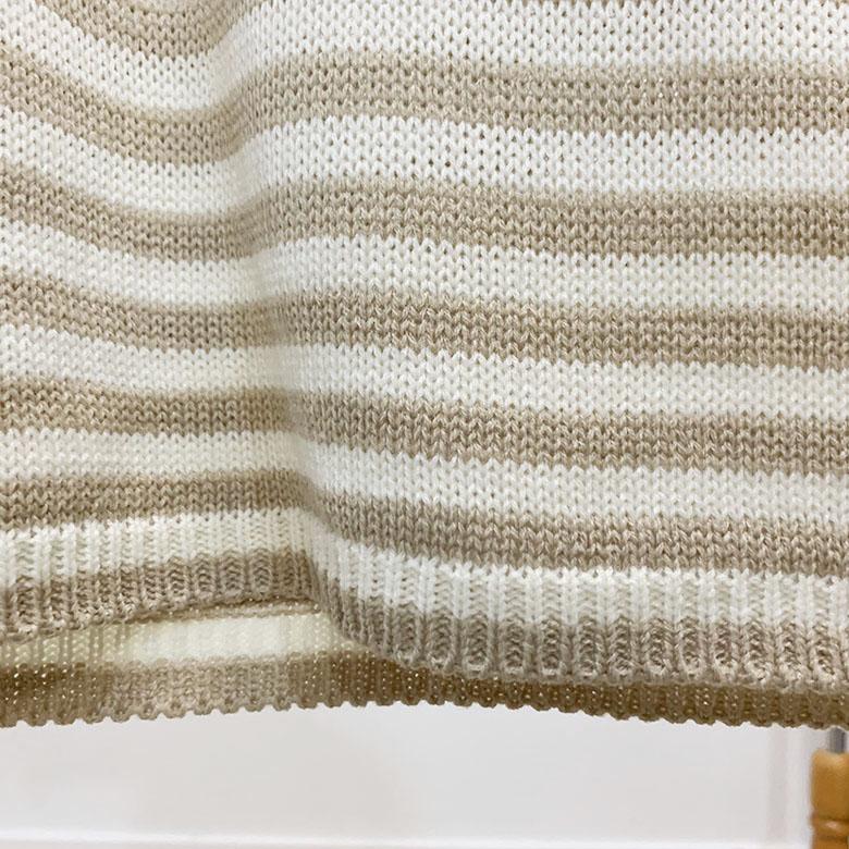 Alon stripe color round knit