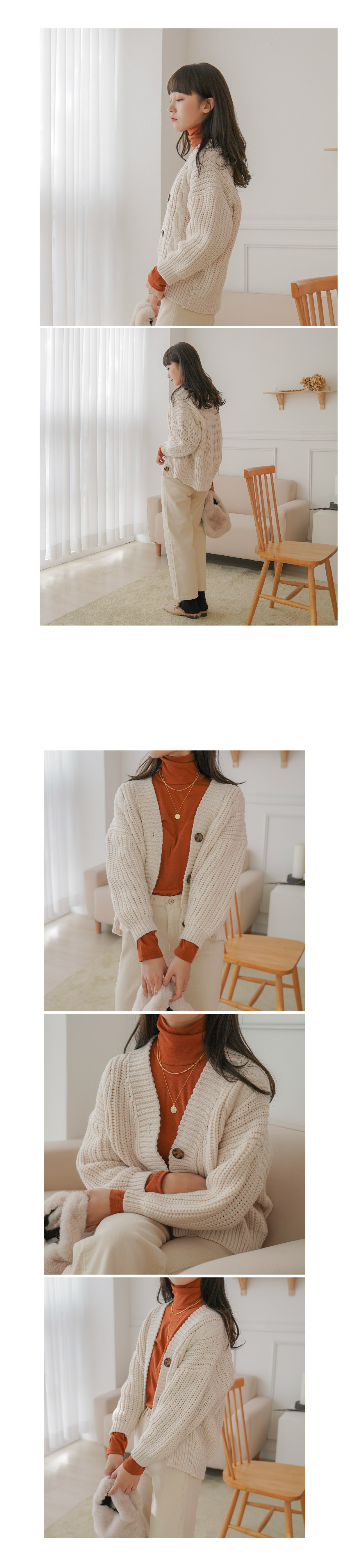 Melo button cardigan _Y