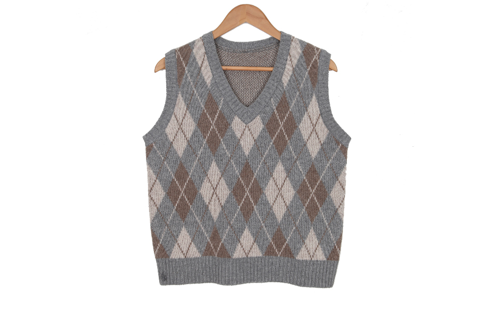 ☆ Nojinjin special price ☆ Lamb diamond knit vest