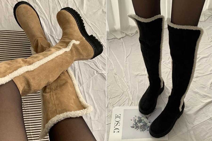 Suede Faux Long Boots_ss03438