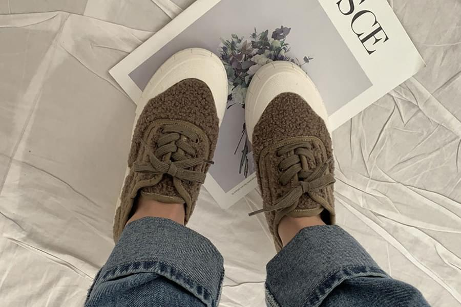 Round suede sneakers_ss03439