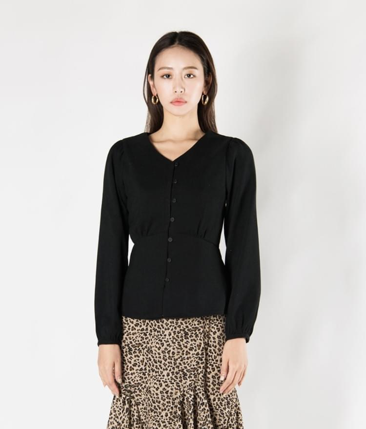Button peplum blouse