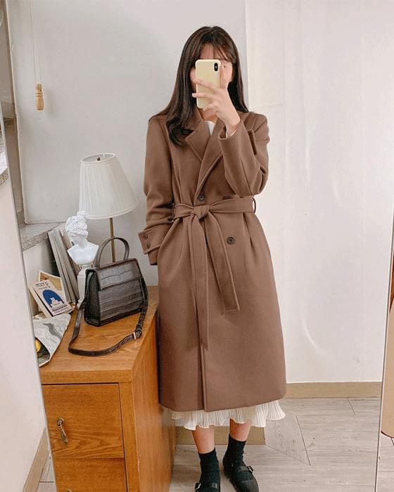 * Free Shipping * Vanilla Wool Long Coat-3color