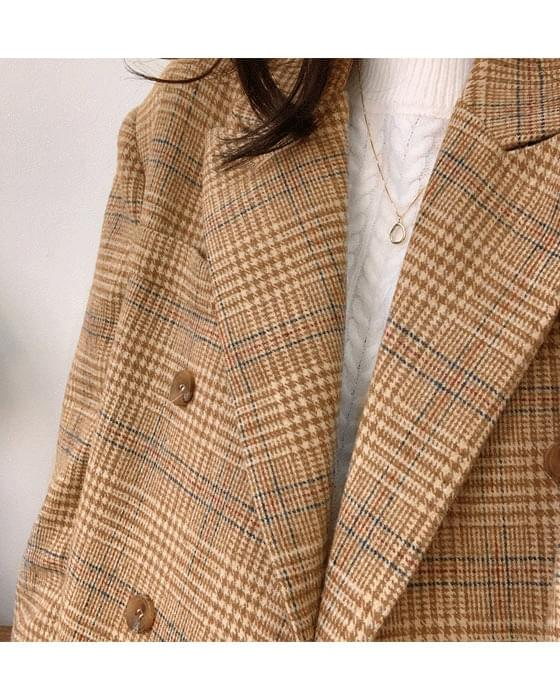 * Free Shipping * Hyde Double Wool Check Jacket-2color