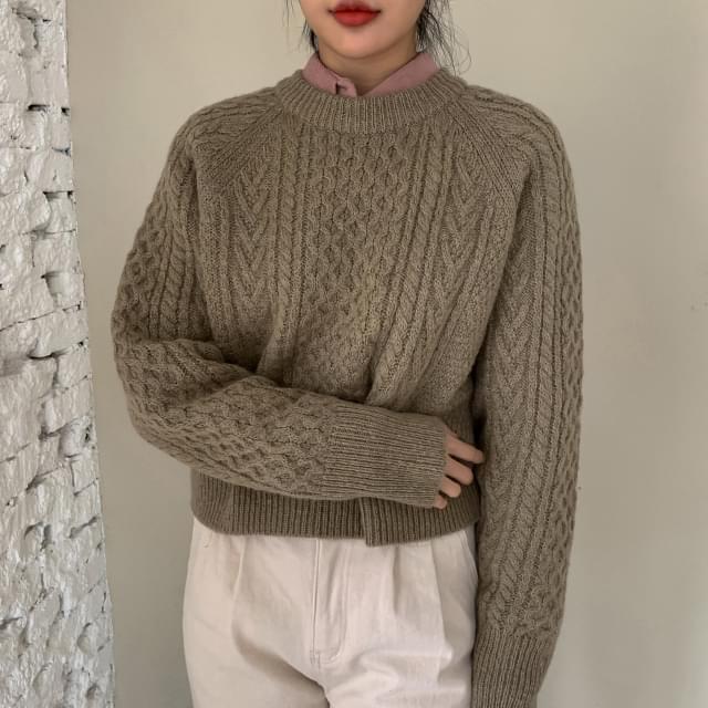 Semi-Crop Wool Pre-Knit-Knit