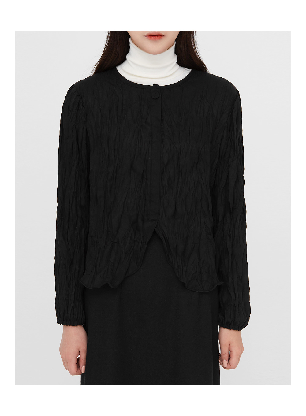 ruffled soft texture blouse