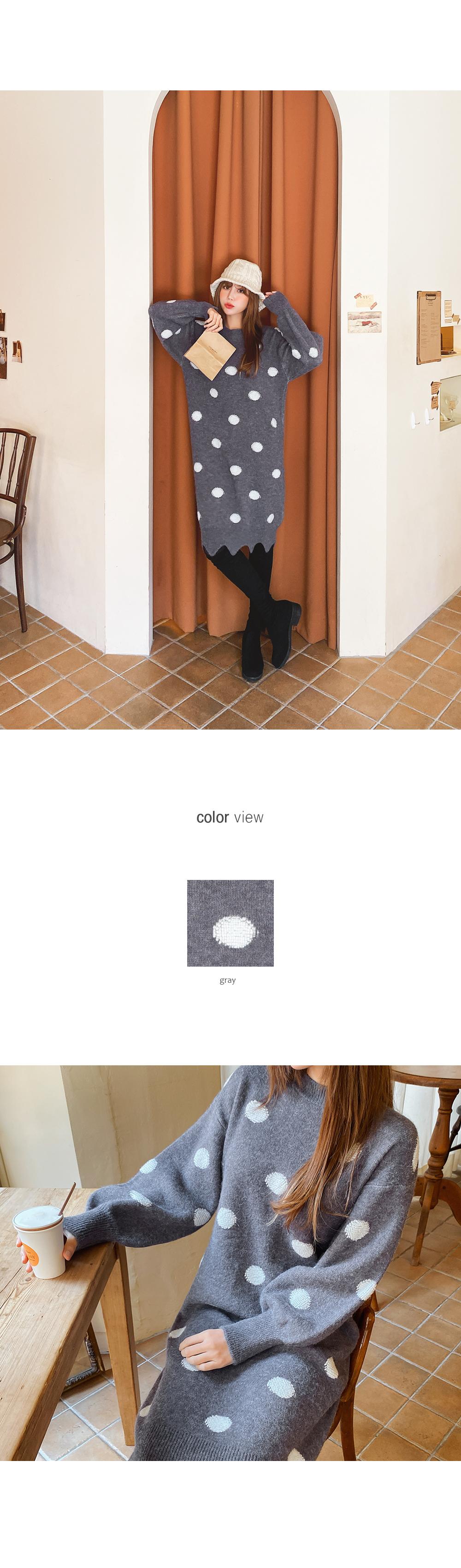 Dot Wave Line Dress