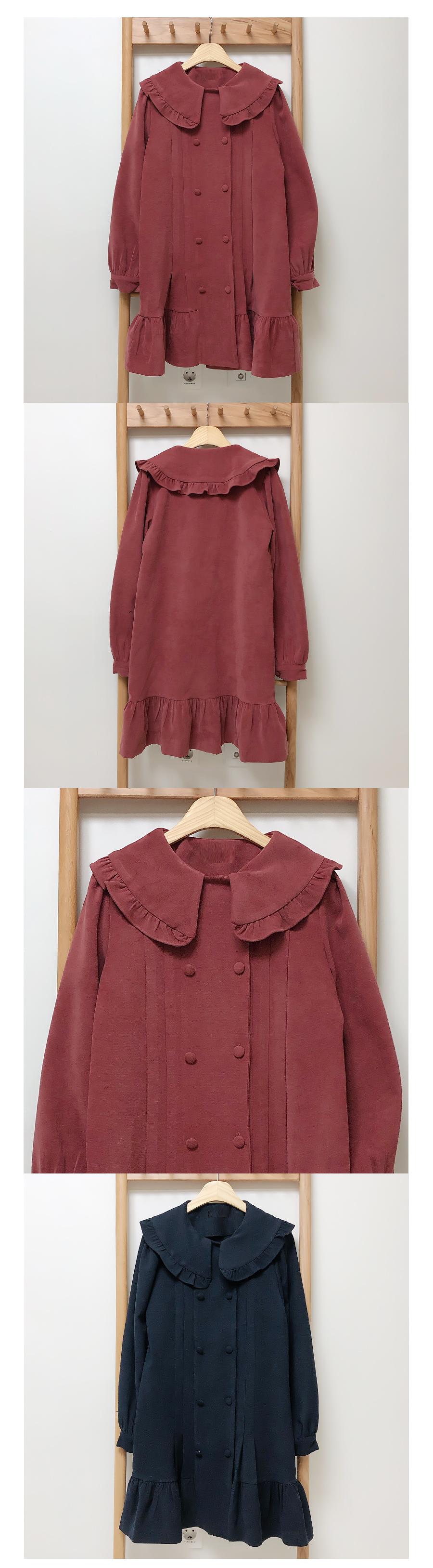 Belt set ♥ Lancome collar pin tuck dress