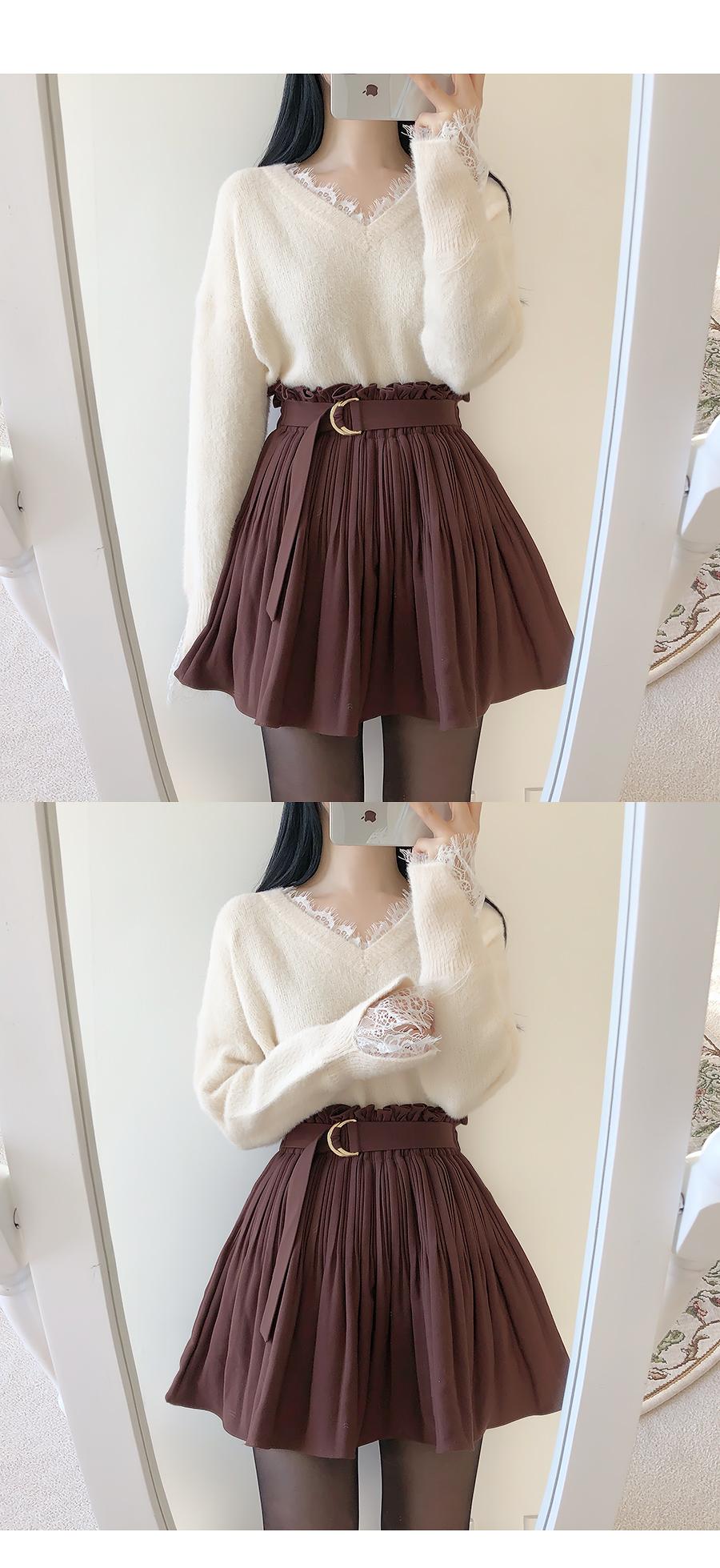 Gourmi Fur Lace Knit