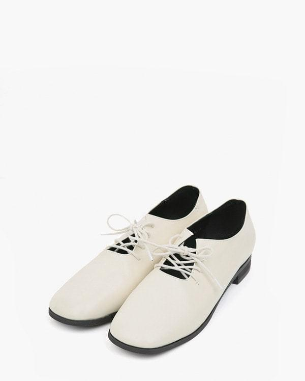 mustered string leather loafer (225-250)