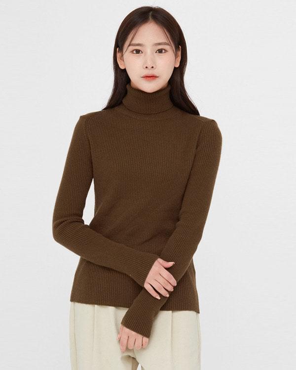 sensible wool turtleneck knit