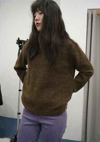 mohair yellow mix knit