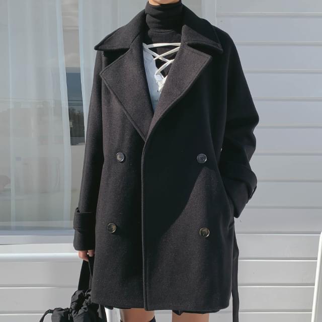Belt half coat