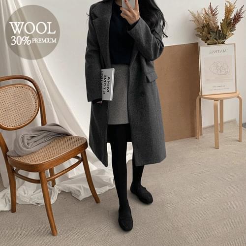 Ladin Double Wool Long Coat