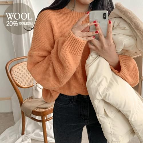 Mall Alpha Park Wool Round Knit