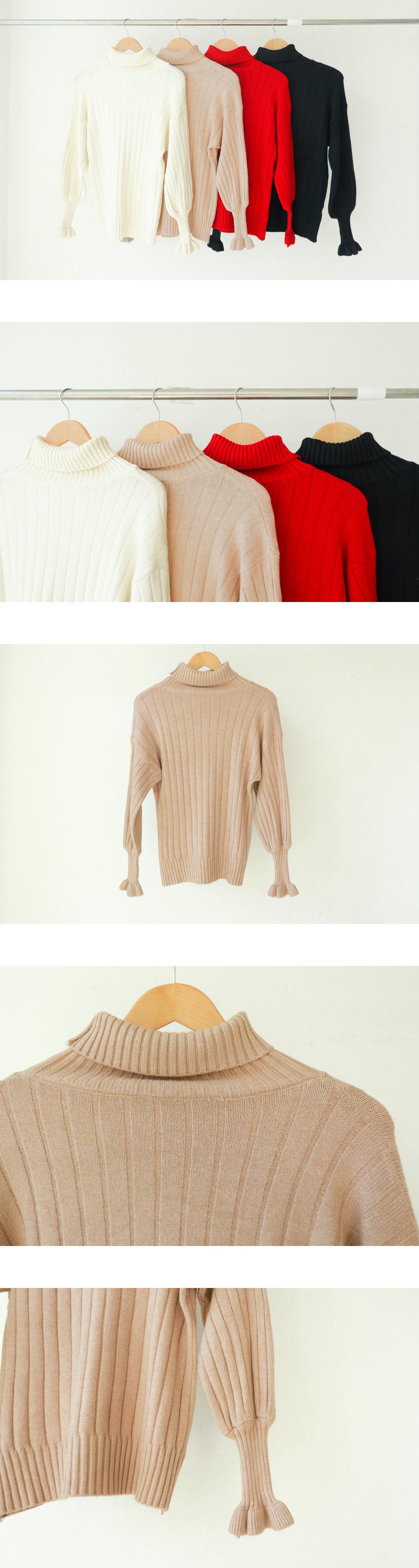 1923 sleeve frill polar knit