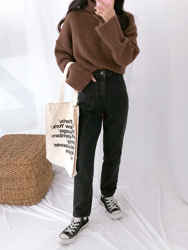 227 High West Date Black Jeans