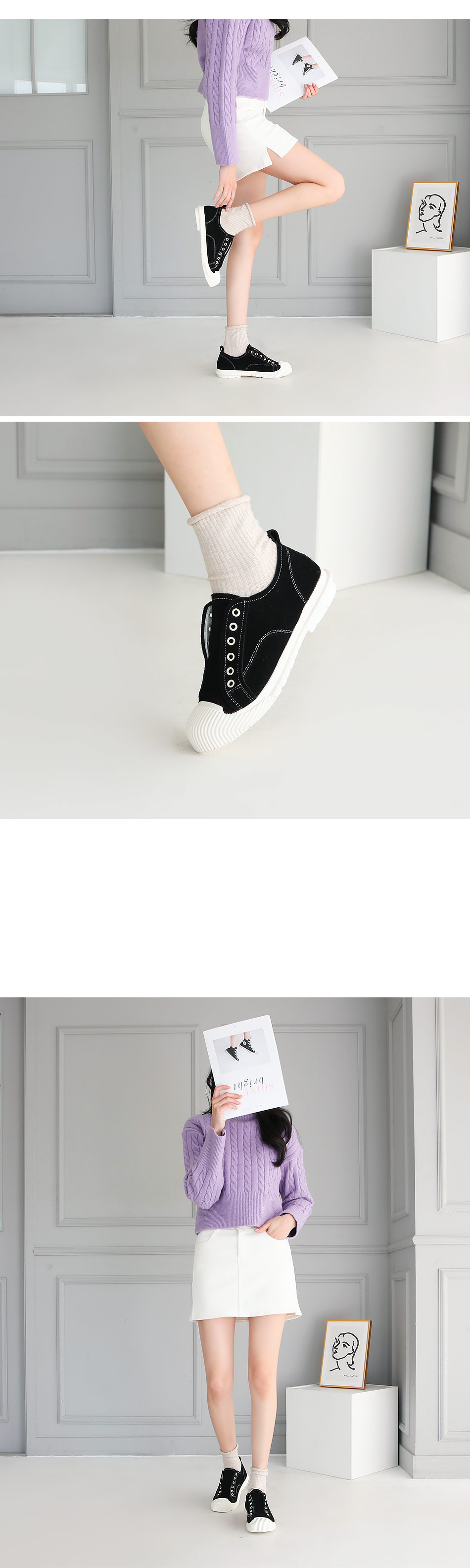 Lerence Leather Tall Sneaker 4cm