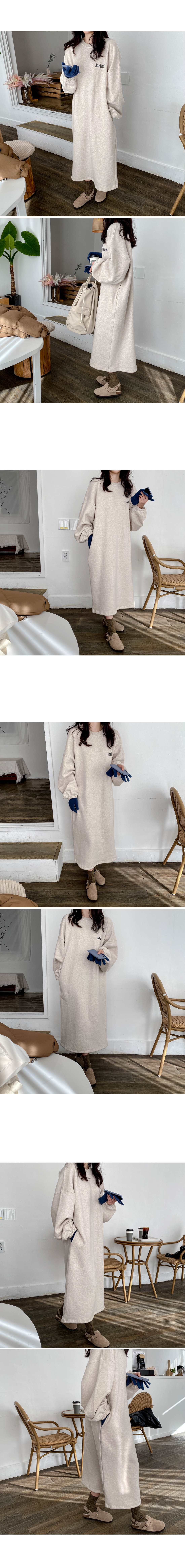 Briefs brushed long dress