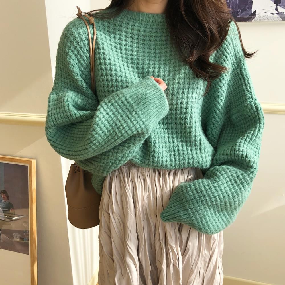 Apple Waffle Knit