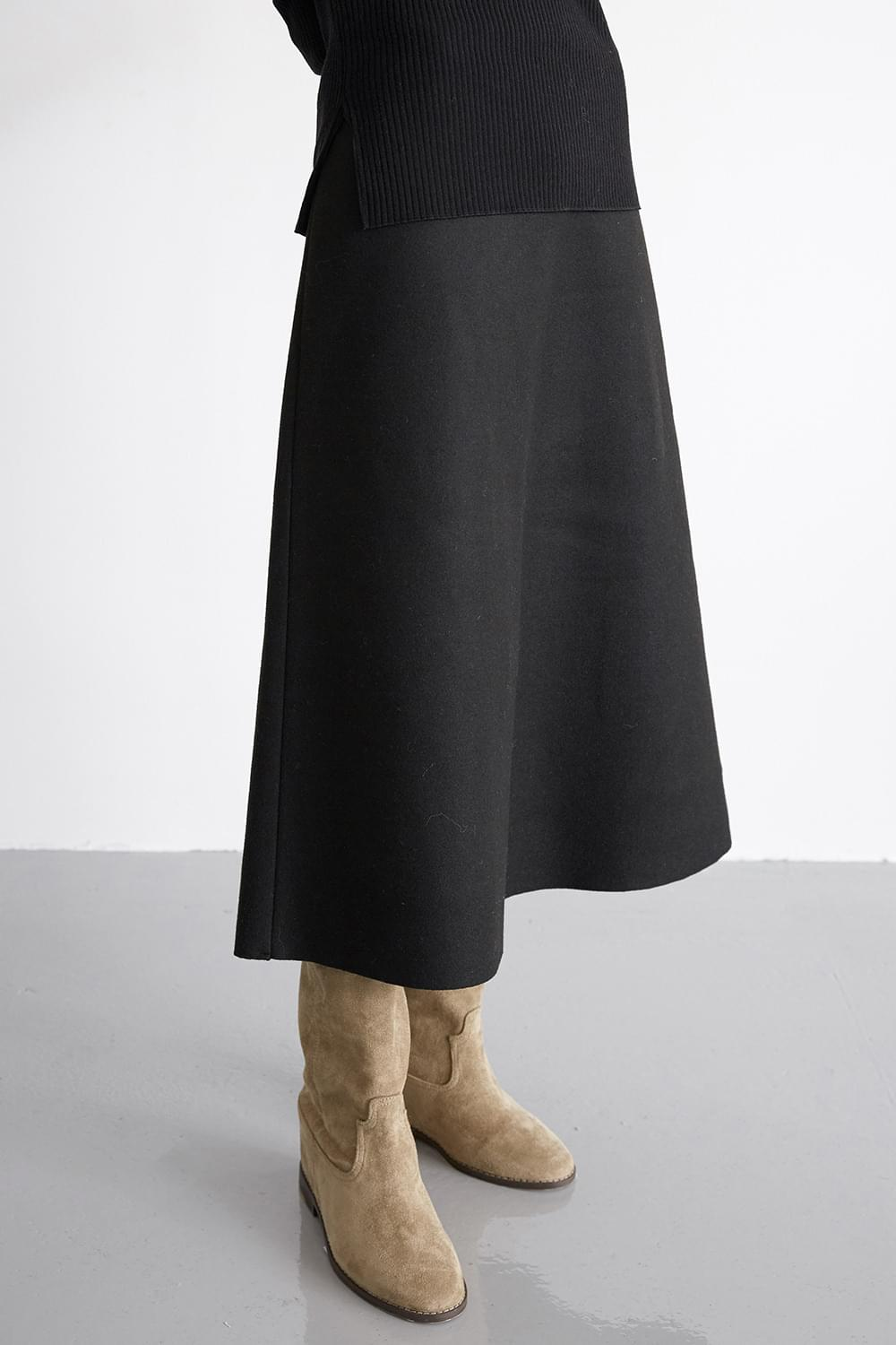 wool tension skirts (3colors)
