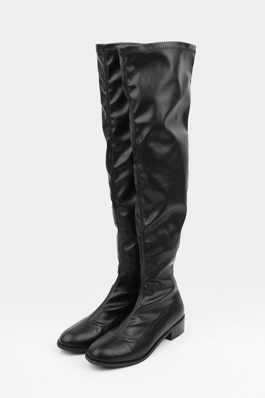 thigh-high vintage boots (black)