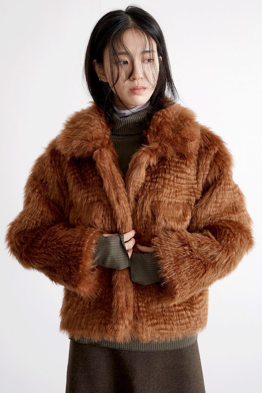 hippie fur jacket (2colors)