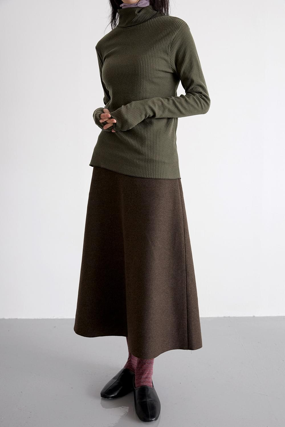 wool tension skirts (brown)