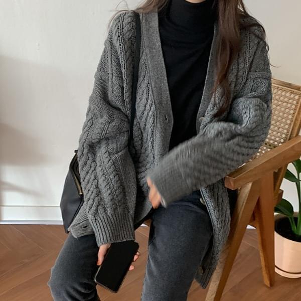 Bichon wool knit cardigan