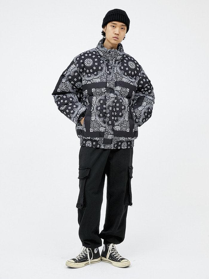 paisley padding jumper (2 color) - men