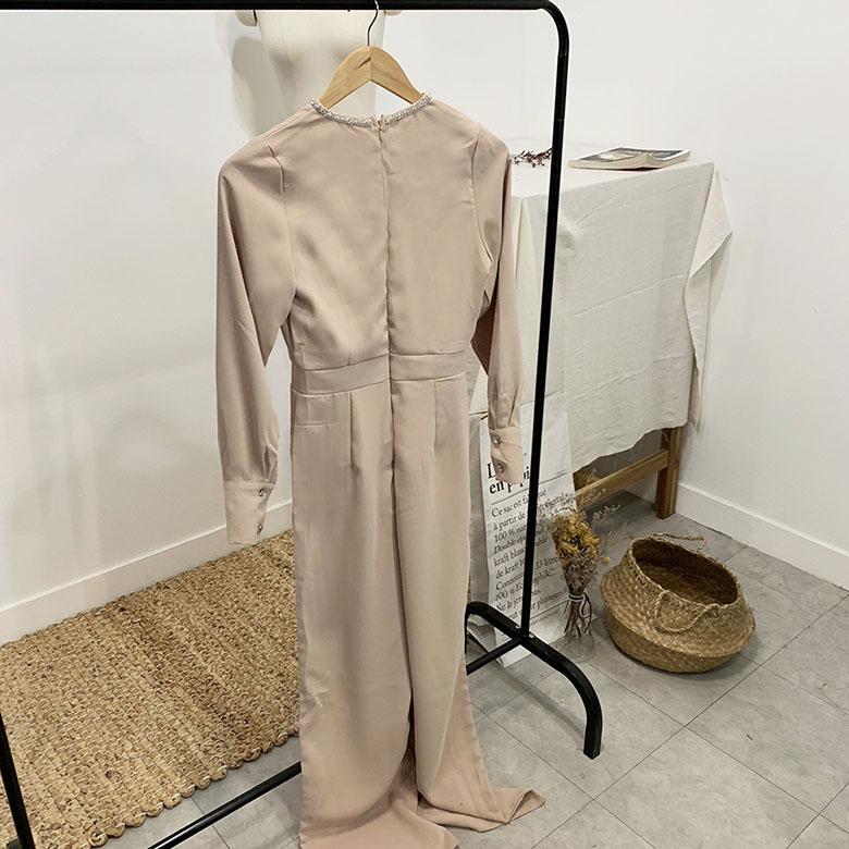 Celine Jeweled Blouse Jumpsuit