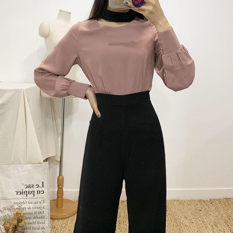Rumi choker blouse jumpsuit