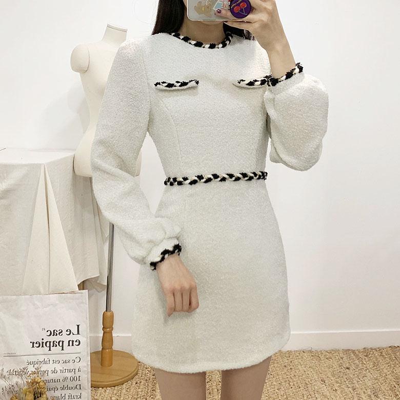 Elphi Round Wool Mini Dress