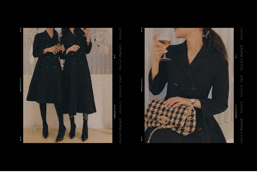 My-littleclassic / Cambon-Double Button Tailored Dress