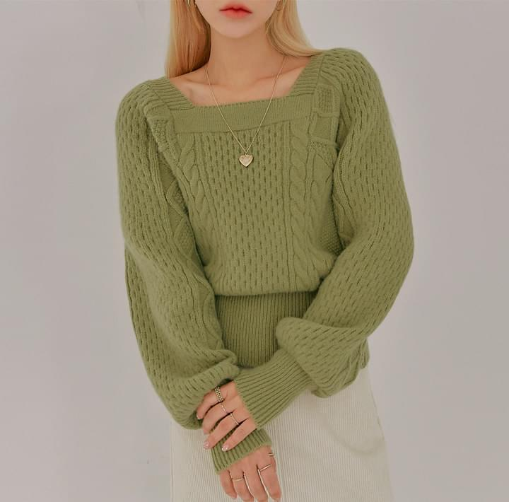 LORIN WOOL 40% TWIST SQUARE KNIT
