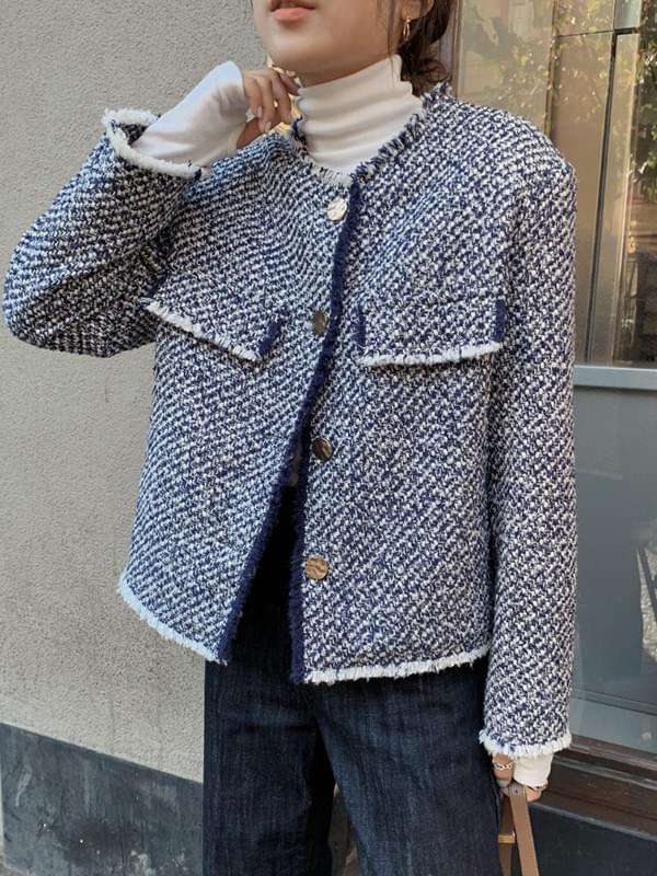 My-littleclassic / Gabriel-tweed quilted jacket