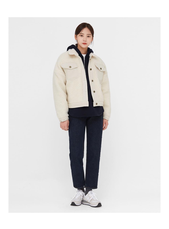 soft fur pocket cotton jacket