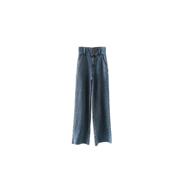 high-waist cut-off pants