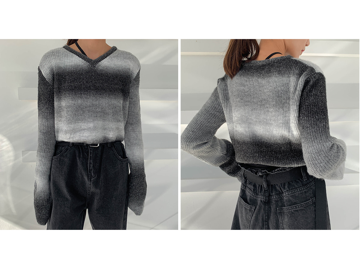 Gradient Cropped Knit