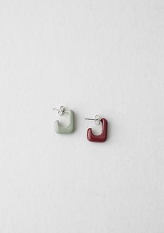 odd color block earrings