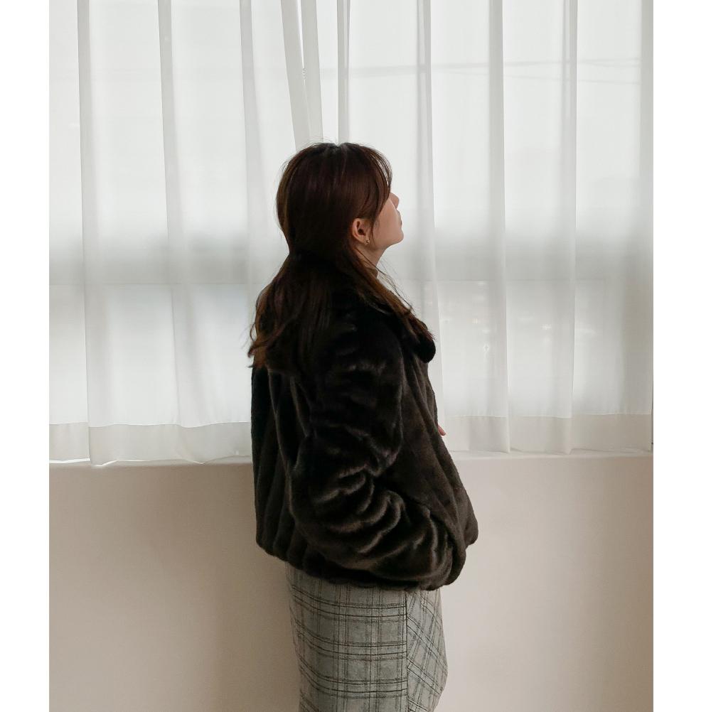 Karaneck Fur Short Jacket